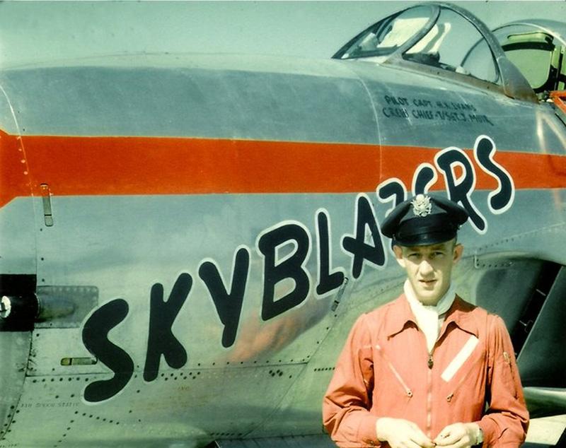 Skyblazers F-80B Shooting Star and Major Harry K. Evans