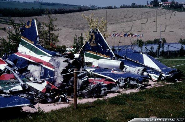 Crash planes remains