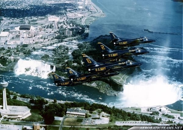 Blue Angels A-4F Skyhawk over Niagara Falls
