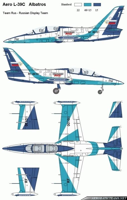 Russ L-39 Albatross paint scheme from 1998 to 2012
