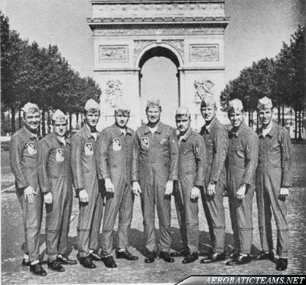 Blue Angels F11F Tiger pilots, Paris 1965