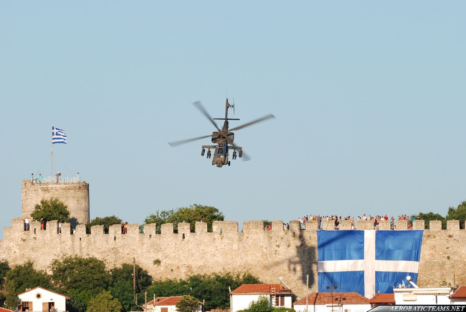 Hellenic Army AH-64 Apache over Fortress Kavala