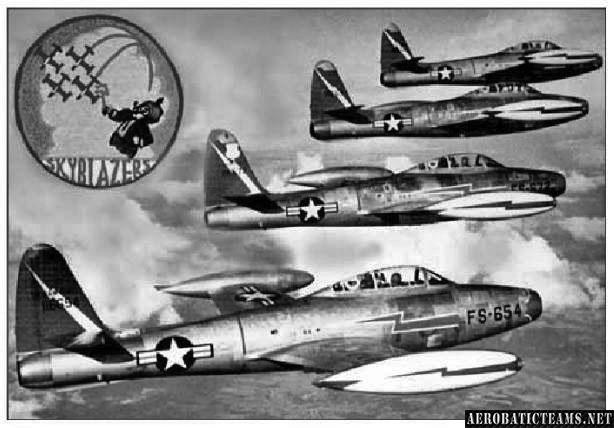 Skyblazers F-84G Thunderjet. 1953-1954, Chaumont Airbase, France