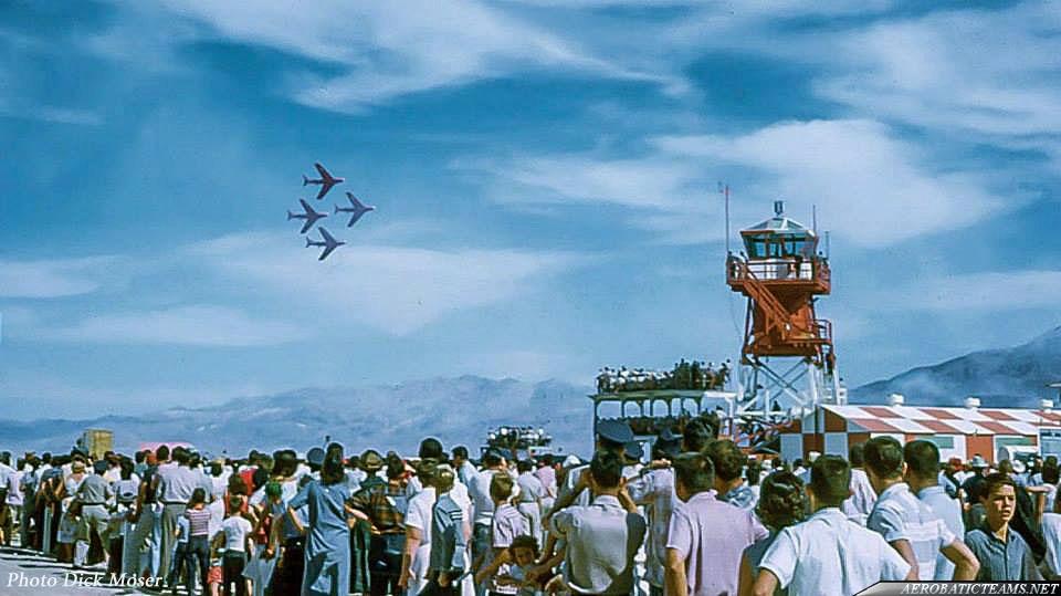 Minute Men F-86F-2 Sabre. April 1959 World Congress of Flight at Nellis AFB