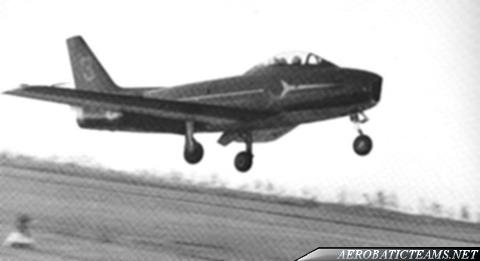 Frecce Tricolori Canadair CL-13 Sabre, 1962-63 livery