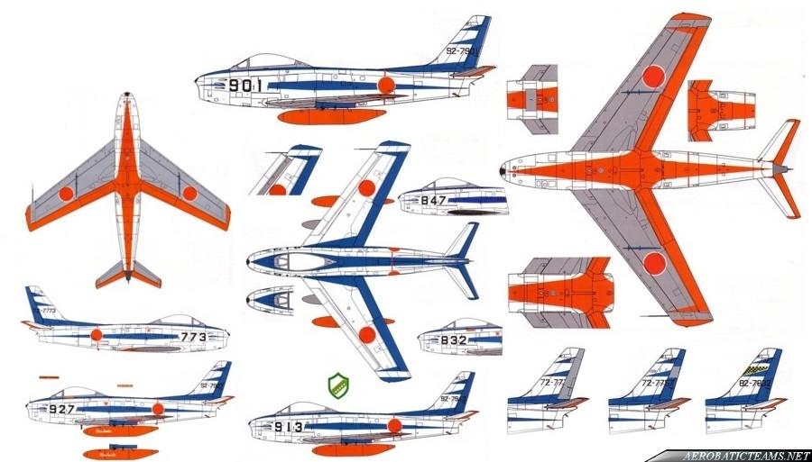 Blue Impulse F-86F Sabre 1961-82 paint scheme