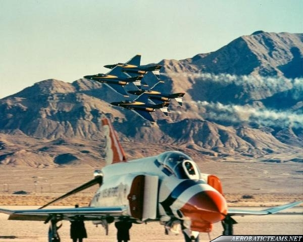 Blue Angels F-4J Phantom II and Thunderbirds F-4E