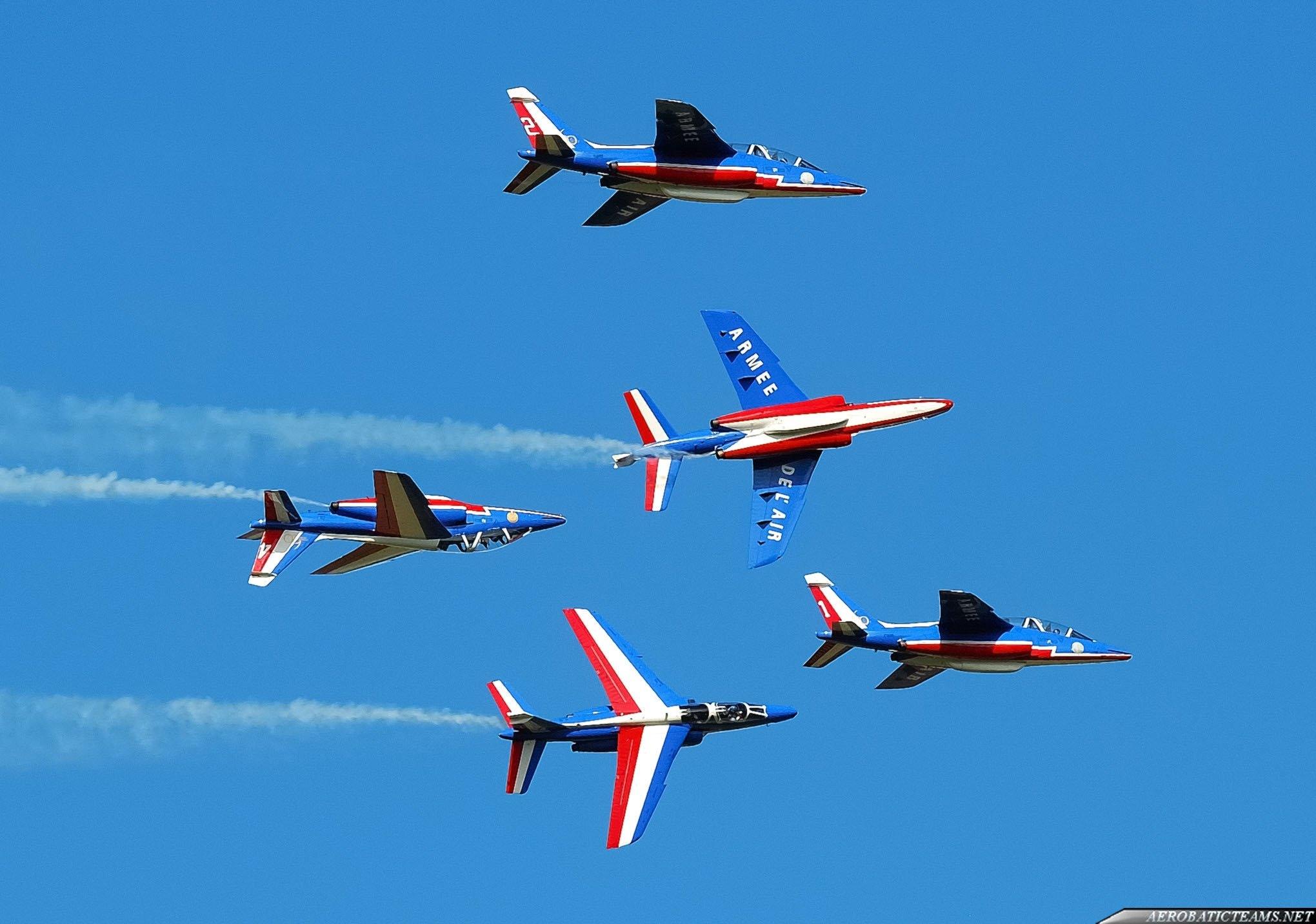Patrouille De France present aircraft Alpha Jet
