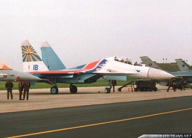 Russian Knights Su-27UB