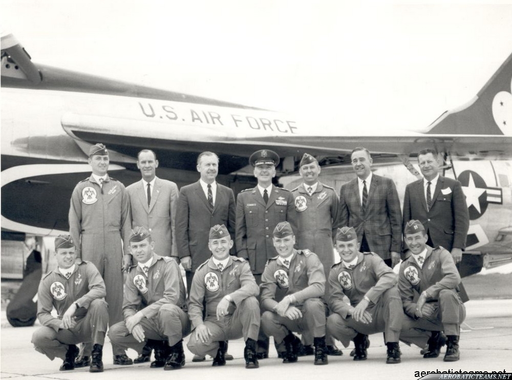 Thunderbirds F-105B Thunderchief pilots