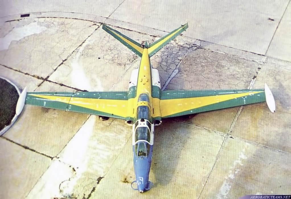 Esquadrilha da Fumaca Fouga Magister from 1968 to 1970