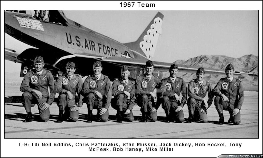 1967 Thunderbirds Pilots