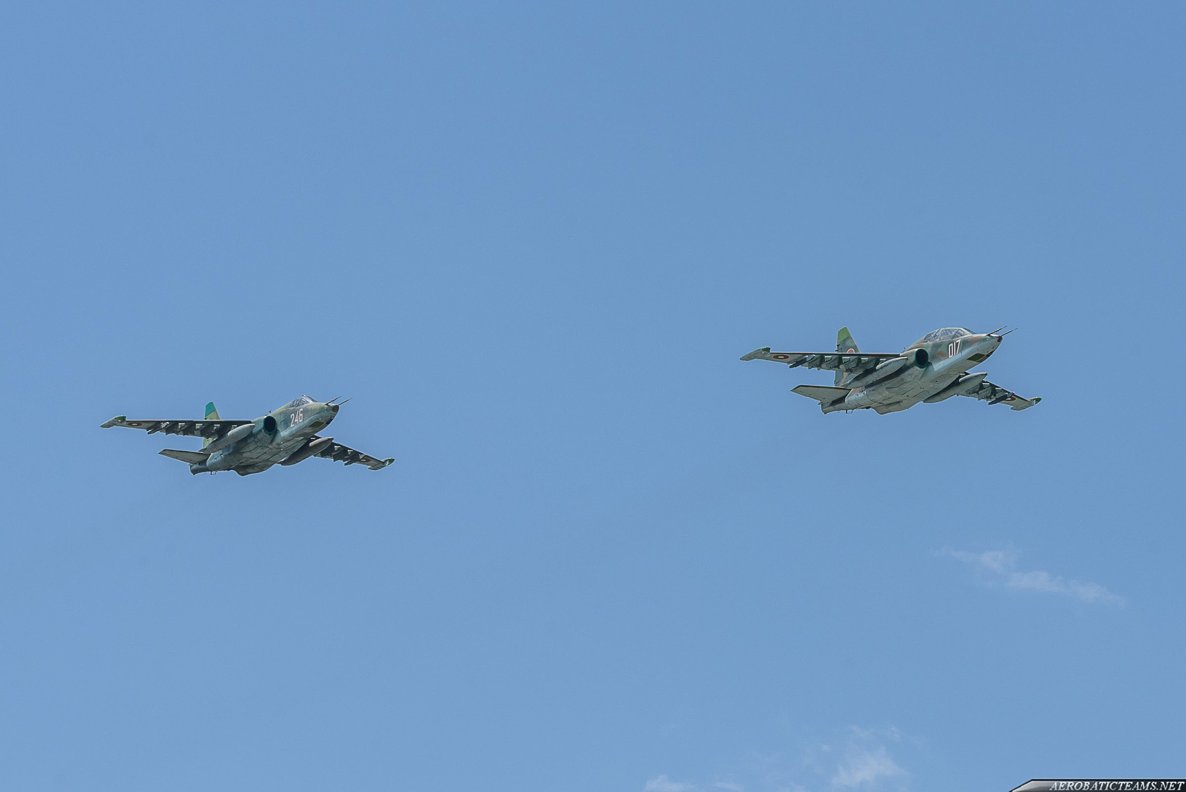 Bulgarian Air Force Su-25 and Su-25UB