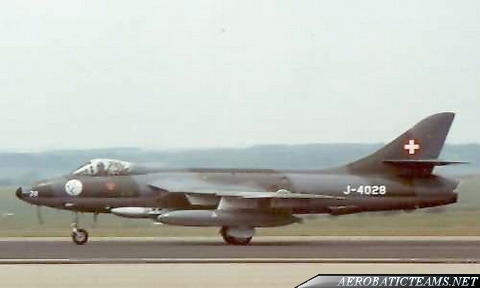 Patrouille Suisse Hawker Hunter Mk.58, first livery