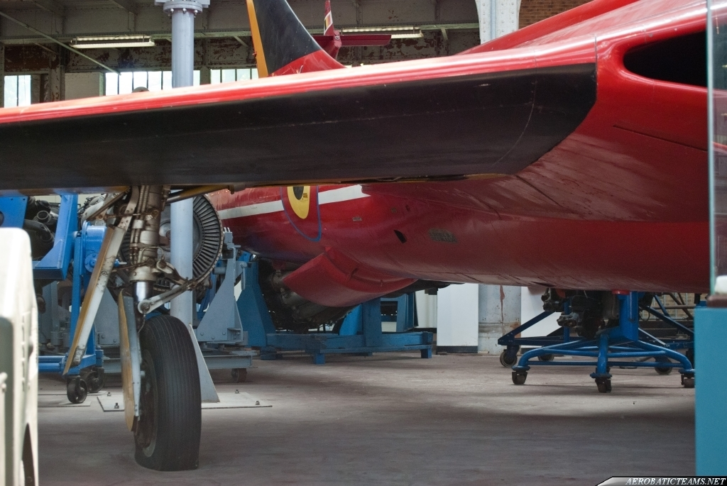 Red Devils Hawker Hunter F.6 at Belgian Aviation Museum at Bruxelles