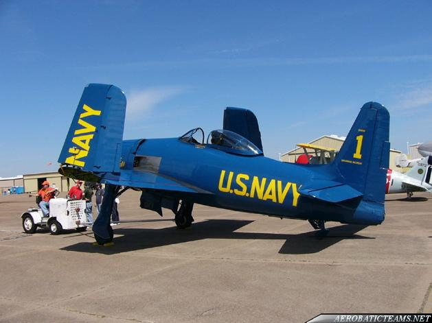 Blue Angels F8F Bearcat replica