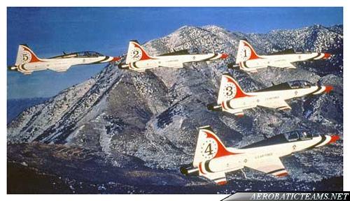 Thunderbirds T-38 Talon, from 1974 to 1982