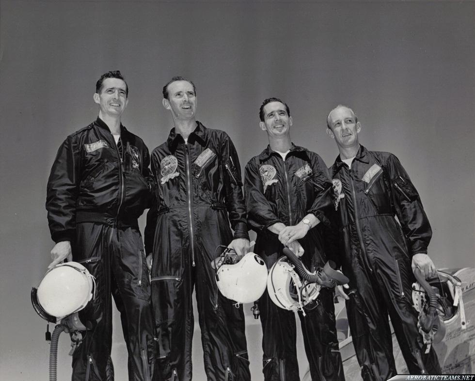 Skyblazers F-84E Thunderjet pilots