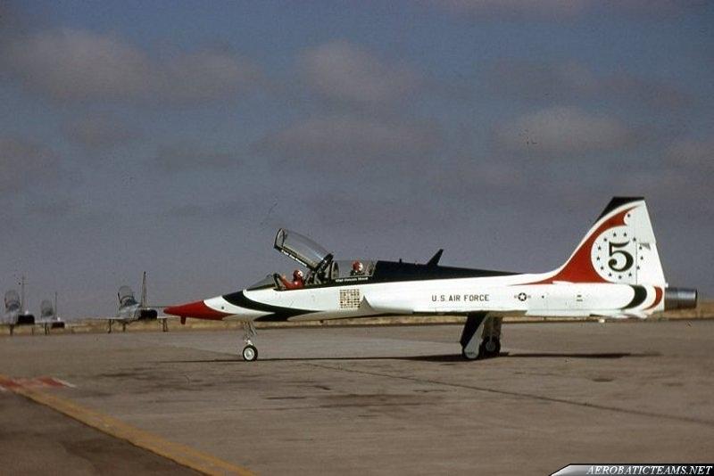 Thunderbirds T-38 Talon. Holloman AFB, 1974