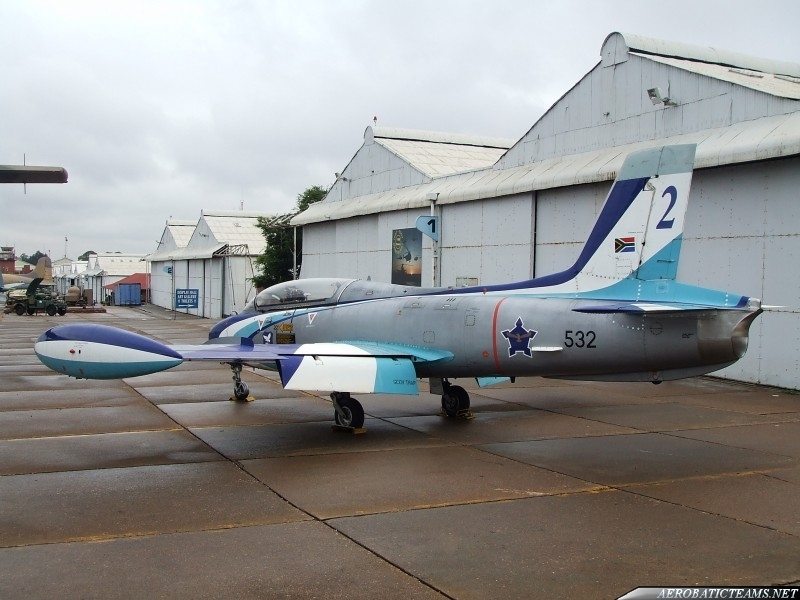 Silver Falcons MB-326 Impala. Third paint scheme from 1994 to 1995