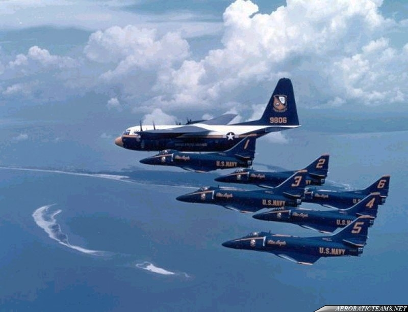 Blue Angels A-4F Skyhawk and Fat Albert