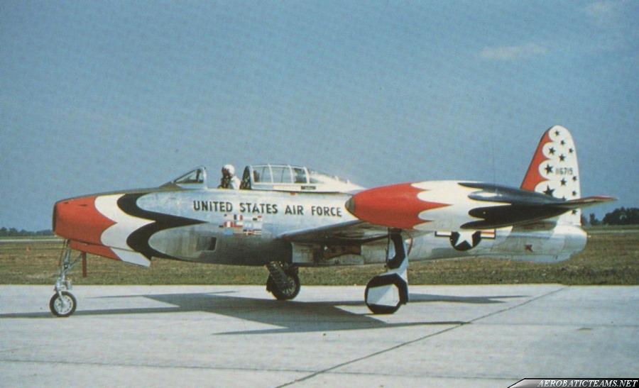 Thunderbirds F-84G Thunderjet. Photo by William J Balogh Sr