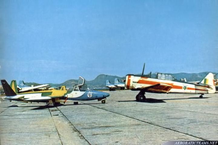 Esquadrilha da Fumaca T-6 Texan and Fouga Magister