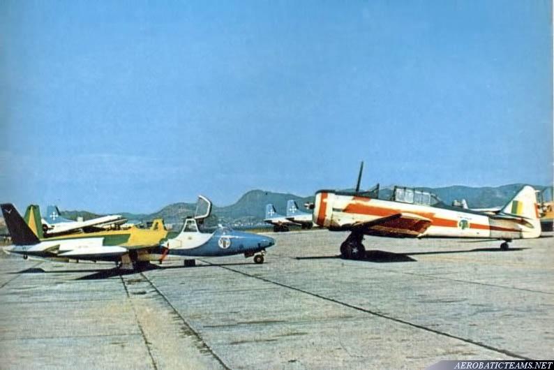 Esquadrilha da Fumaca T-6 Texan and next aircraft Fouga Magister