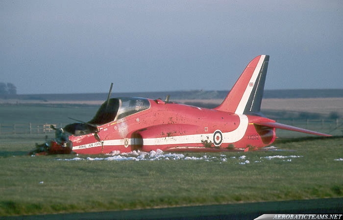 Red Arrows belly landing. July 13, 1998 incident