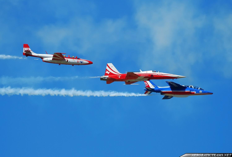Patrouille de France, Patrouille Suisse, Patrulla Aguila, Red Arrows, Frecce Tricolori, Iskry