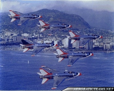 Thunderbirds F-100D Super Sabre, from 1964 to 1968