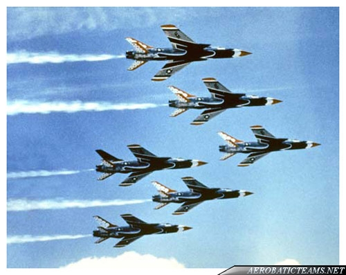 Thunderbirds F-105B Thunderchief, 1964 six airshows only
