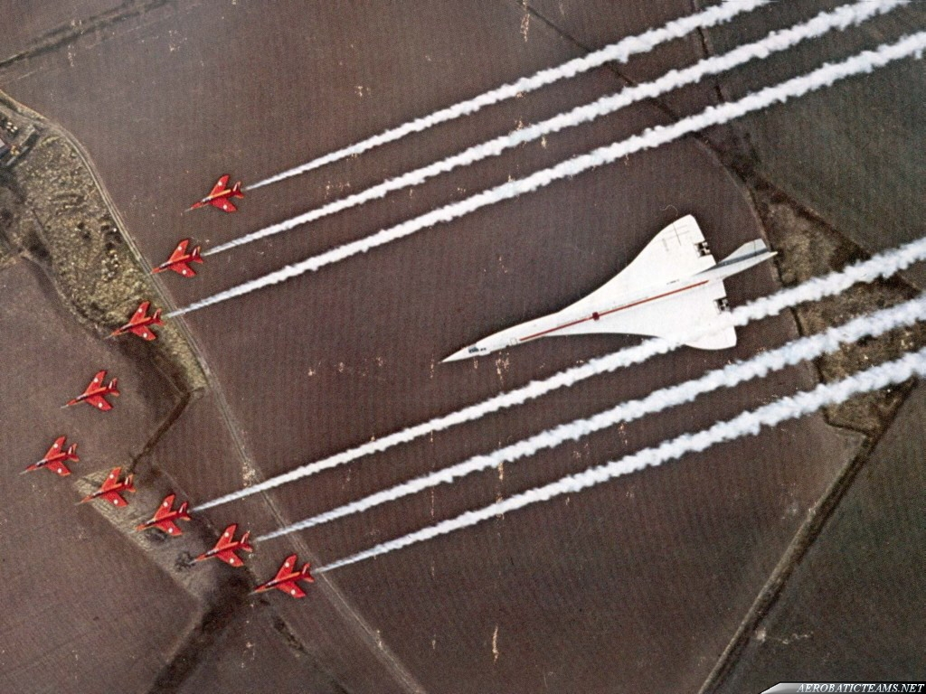 Red Arrows Folland Gnat and Concorde