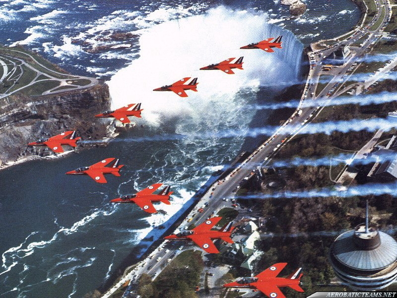 Red Arrows Folland Gnat over Niagara Falls