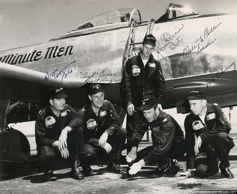 Minute Men F-80C Shooting Star with the pilots. Photo from Chuck Johnston Jr collection