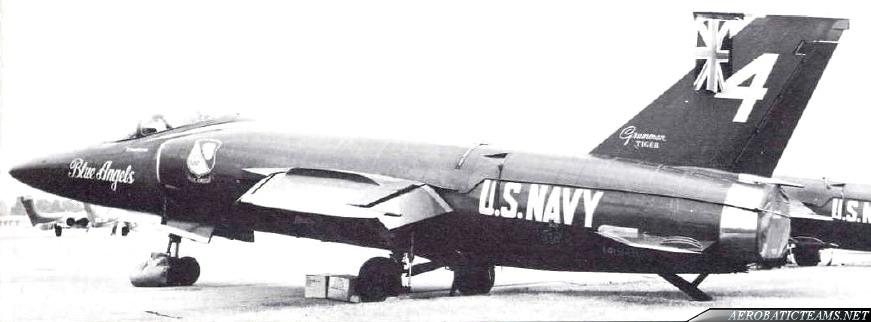Blue Angels F11F Tiger at UK, 1965