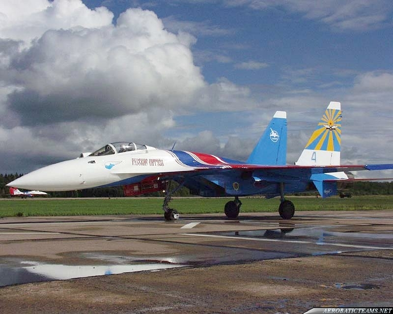 Russian Knights Su-35. This aircraft never flew in  formation with the team