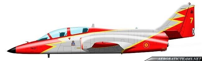 Patrulla Aguila C-101 Aviojet, present paint scheme from 1991