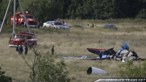 Russian Knights 2009 crash. One of the plane's crash site