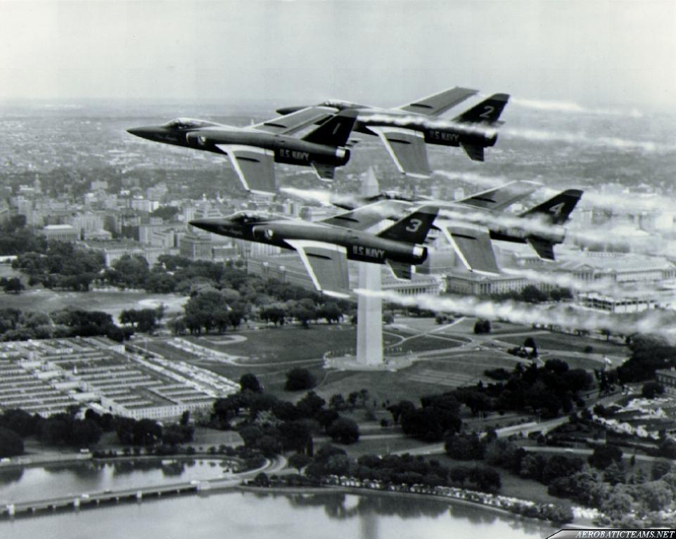 Blue Angels F11F Tiger over Washington