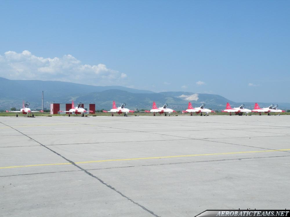 Turkish Stars NF-5 Aircraft at the parking