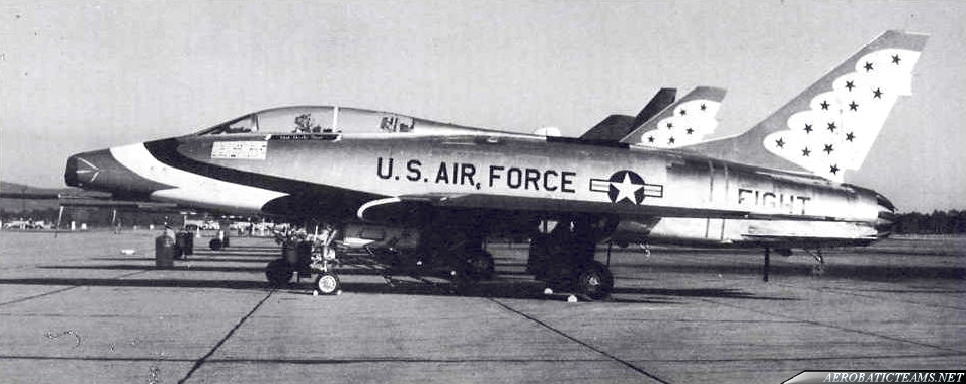 Thunderbirds F-100F Super Sabre