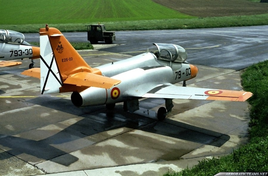 Patrulla Aguila C-101 Aviojet, first paint scheme from 1985 to 1991
