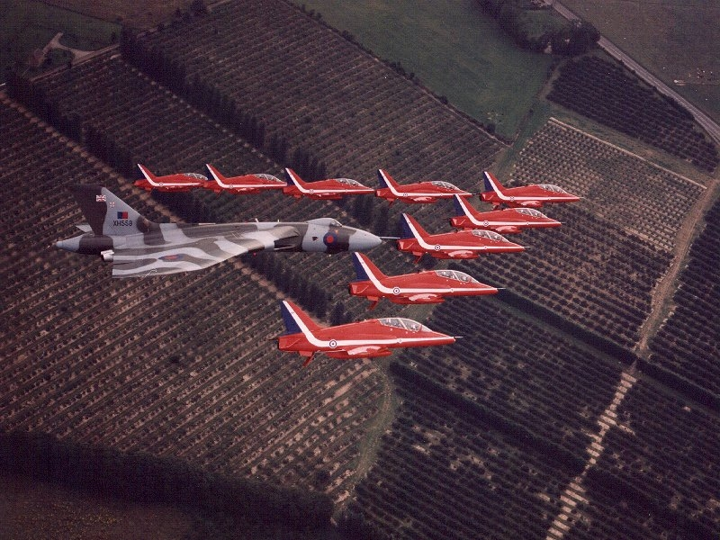Red Arrows and Vulcan