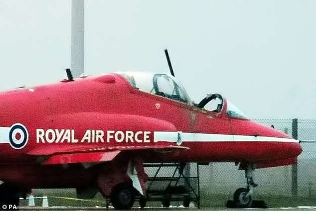 Flt Lt Sean Cunningham's aircraft during the incident