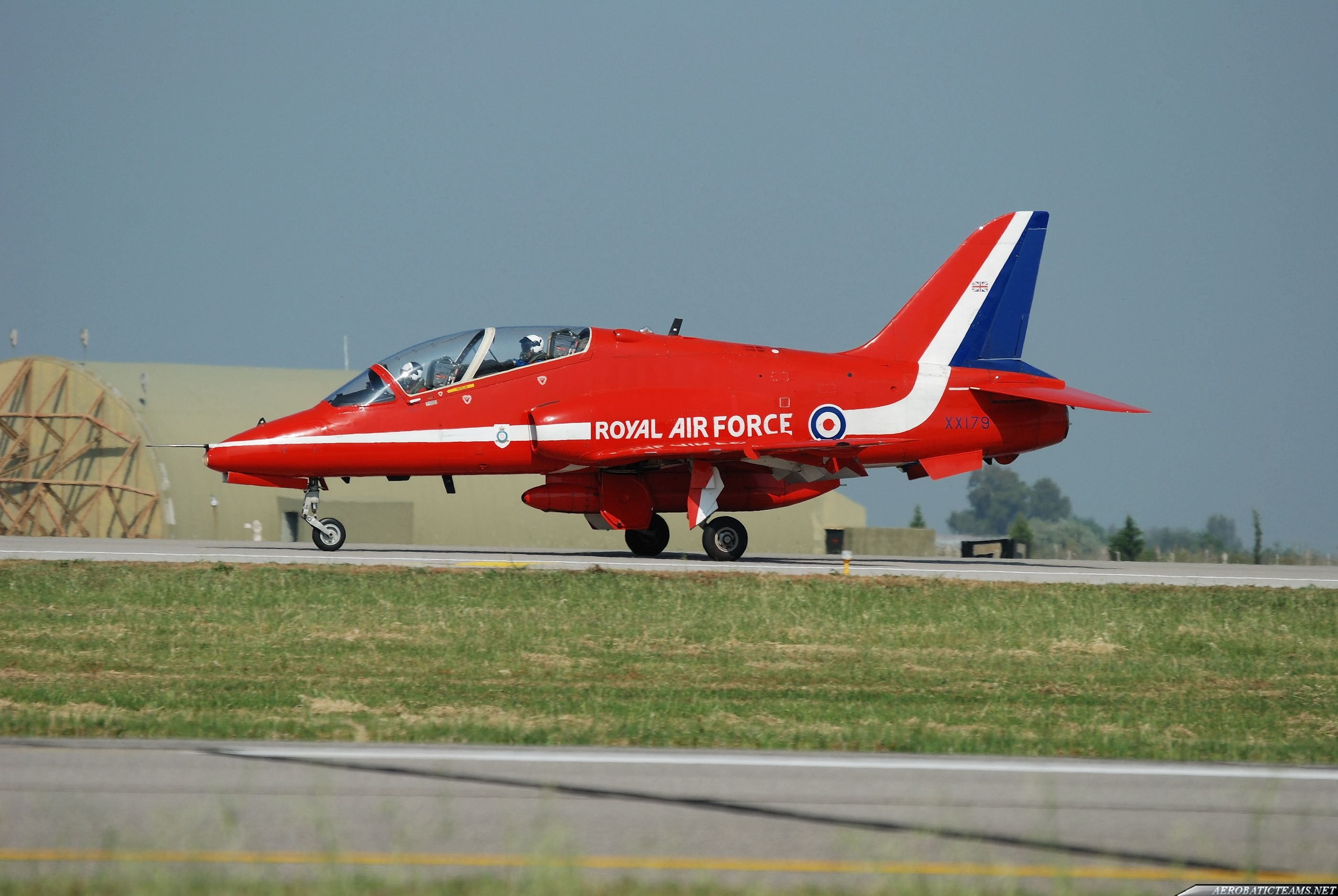 Red Arrows BAe Hawk T Mk.1A XX179. The plane of Flt. Lt. Jon Egging at Izmir Air Show June 4th, 2011. On August 20th, this plane crashed killing the pilot.