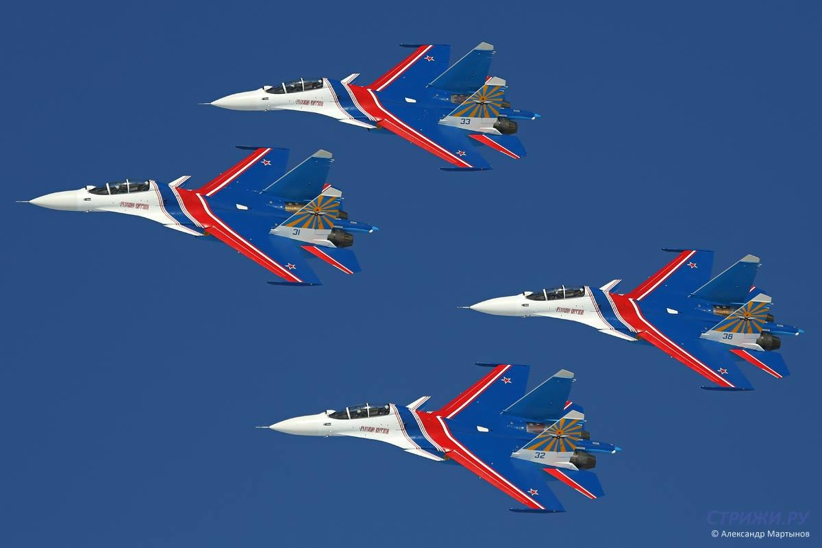 Russian Knights Su-30SM. Photo Alexandr Martynov