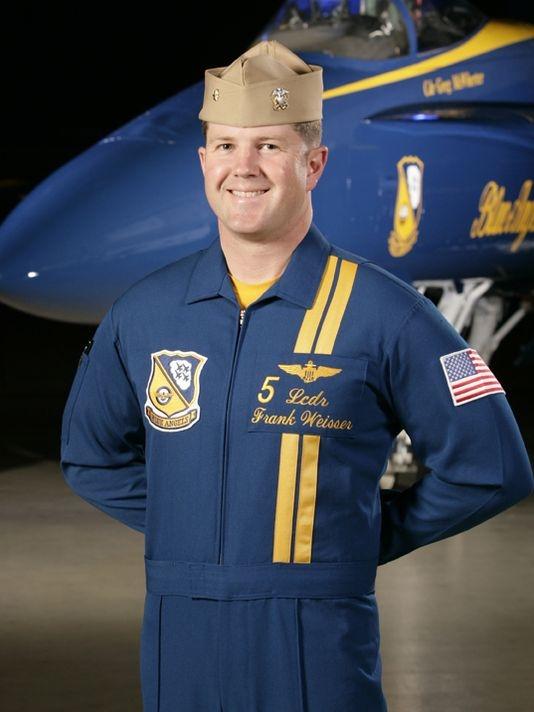 Commander Frank Weisser in 2010 when he flew as a Lead Solo