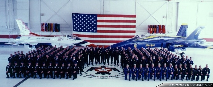 Thunderbirds and Blue Angels at reunion