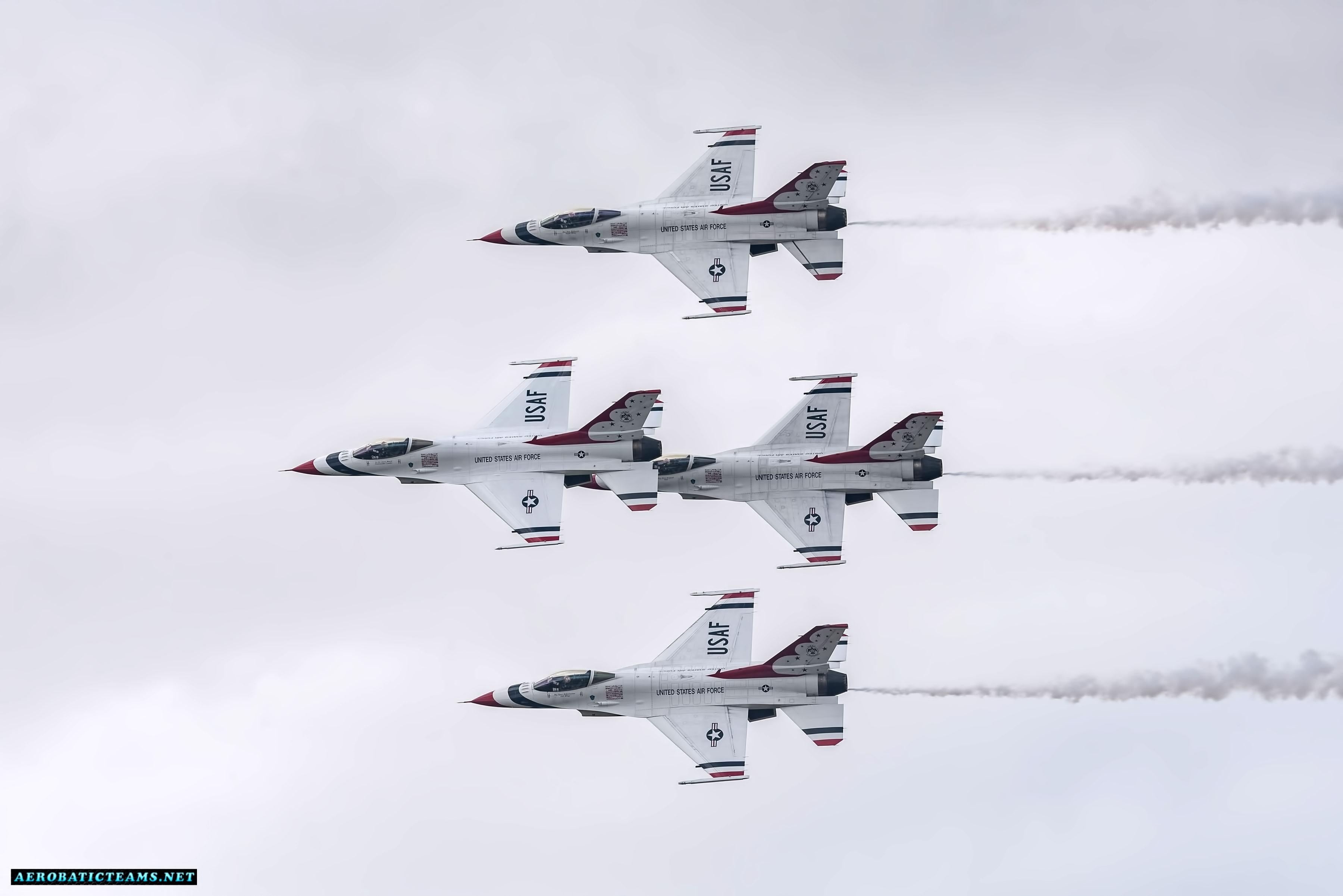 USAF Thunderbirds resume airshow displays after the crash